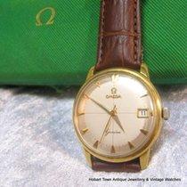 Omega Vintage Geneve Date Crosshairs 18ct Gold Boxed Original...