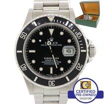 Rolex Submariner Date 16800 R Stainless Steel Black 40mm Dive...