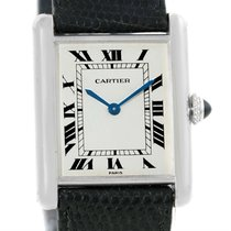 Cartier Tank Classic Paris 18k White Gold Ultra Thin Mechanica...
