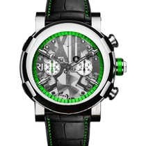 Romain Jerome Titanic DNA Steampunk Chrono Green in Polished...