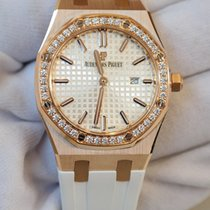 Audemars Piguet Royal Oak 33 silver dial in rose gold with...