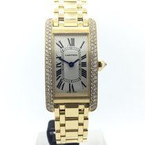 Cartier Tank Americaine 18k Gold w/ Diamonds