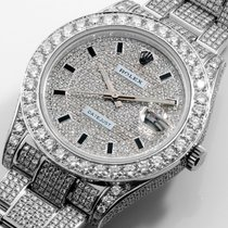 Rolex 41mm Steel Datejust ll Custom Micro Pave Set VS Diamonds