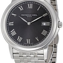 Raymond Weil Tradition Steel Mens Watch Grey Dial Calendar...