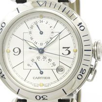 Cartier Polished Cartier Pasha 38 Gmt Power Reserve Automatic...