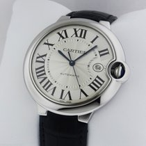 Cartier Ballon Bleu Stainless Steel on Leather Strap B&P...