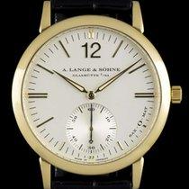 A. Lange & Söhne 18k Yellow Gold Silver Baton Dial...
