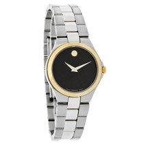 Movado Signature Ladies Black Museum Dial Swiss Quartz Watch...