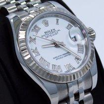 Rolex Datejust 179174 18k White Gold Bezel Roman Dial Jubilee...