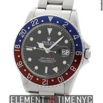 Rolex GMT-Master Stainless Steel Pepsi Bezel Acrylic Crystal...