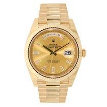 Rolex DAY-DATE 40 18K Yellow Gold President Diamond Dial