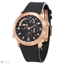 Blancpain Leman 18K Rose Gold Alarm GMT Time Zone Rubber...