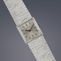 Longines Ladies 9ct white gold manual watch