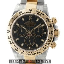 Rolex Daytona Steel & 18k Yellow Gold Black Dial