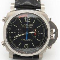 Panerai Luminor 1950 Flyback Regatta Pam 526 Titanium Men'...