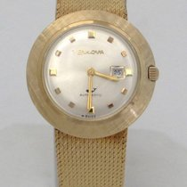Bulova Ladies 14k Yellow Gold Bulova Automatic Swiss Mesh...
