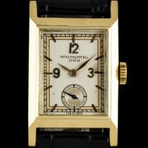 Patek Philippe 18k Yellow Gold Silver Dial Vintage Gents...