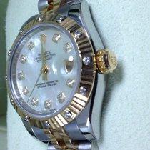 Rolex Ladies New Style 18k/ss Datejust 179313 Factory Diamond...