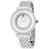 Michele Cloette Came 38 Mm Stainless Steel Diamond Women's...