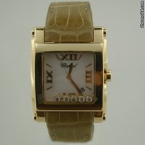 Chopard HAPPY SPORT 2  XL SQUARE YELLOW GOLD BOX & PAPERS