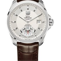 TAG Heuer Grand Carrera Calibre 6 RS Silver Dial Brown...