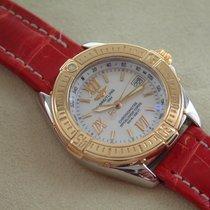 Breitling Lady B-Class Stahl / Gold, Perlmutt, Chronometre