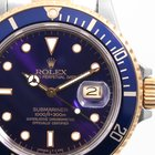 Rolex Mens 18K/SS Submariner - Purple Dial - 16803 Complete