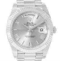 Rolex President Day-date 40mm Quadrant White Gold Watch 228239...