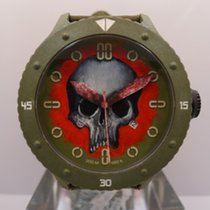 Alessandro Baldieri M48 Carbon Hand Painted Skull Red