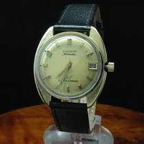 Longines Ultra Chron 10kt Gold Mantel Automatic Herrenuhr /...