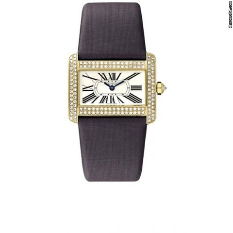 Cartier TANK DIVAN LADIES&amp;#39; YELLOW GOLD DIAMOND ON STRAP