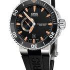 Oris Aquis Small Second, Date, Black Dial, Rubber Bracelet