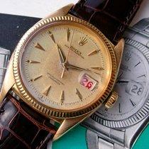 """Rolex Datejust Ref. 6305 in 18k Gelbgold """"red writing"""""""