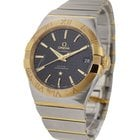 Omega Constellation Mens in Steel with Rose Gold Bezel