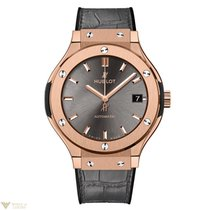 Hublot Classic Fusion Automatic 18K Rose Gold Leather Men'...