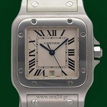 Cartier Santos De Cartier Galbee Stainless Steel Box&Papers