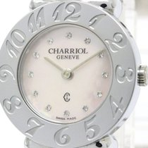 Charriol Polished Charriol St-tropez Pink Mop Steel Quartz...