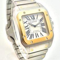 Cartier Santos 100 XL Stahl Gold FULL SET NOS  Discontinued