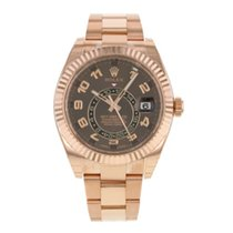 Rolex Skydweller Chocolate Sunray Dial, Rose Gold Bracelet