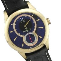 Perrelet Jumping Hour Black Leather Men's Watch