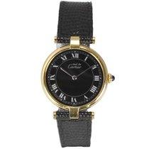Cartier Must De Strap Watch Gold on Sterling Silver 17-021997