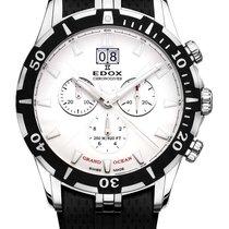 Edox .. Grand Ocean Chronodiver Big Date Chronograph NEW FULL SET