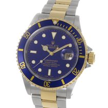 "Rolex Submariner Blue Dial Yellow Gold Steel 40MM ""K..."