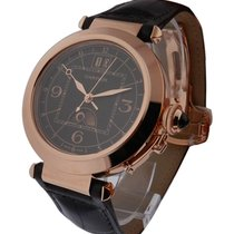 Cartier W3030001 Pasha Extra Large - Rose Gold on Leather with...