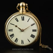 Pocket Watch Swiss 14k Yellow Gold Full Hunter ¼ Repeater...
