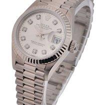 Rolex Used Ladies White Gold President 79179