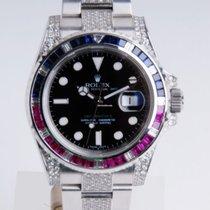 Rolex GMT Master II 116710LN NEU mit Brillantbesatz -After Market