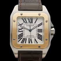 Cartier Santos 100 XL Stainless Steel/18k Yellow Gold Gents...