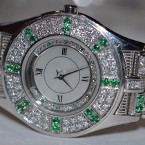 Mauboussin 18K Solid White Gold Emerald / Diamonds