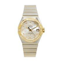 Omega Constellation Gold Steel Diamond Silver Automatic...